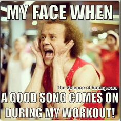 My face when a good song comes on during my workout. - Yassssss Meme - My face when a good song comes on during my workout. The post My face when a good song comes on during my workout. appeared first on Gag Dad. Humour Fitness, Gym Humour, Workout Humor, Fitness Quotes, Exercise Meme, Funny Workout Memes, Workout Quotes, Workout Fitness, Excercise