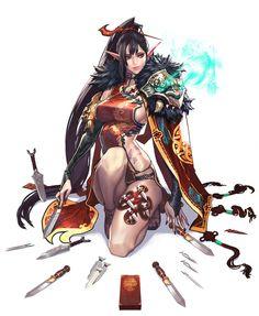 Elf, brunnette, fantasy, concept, art