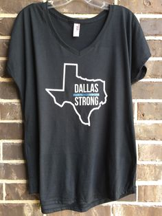A personal favorite from my Etsy shop https://www.etsy.com/listing/452968376/free-shipping-dallas-strong-v-neck