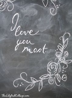 Valentine Chalkboard Art - or everyday without the soppy message