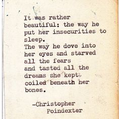 poem by Christopher Poindexter