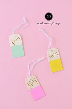 Read More: http://www.stylemepretty.com/living/2015/03/20/diy-woodburned-gift-tags/