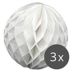 3er Set - Wabenbälle in Weiß