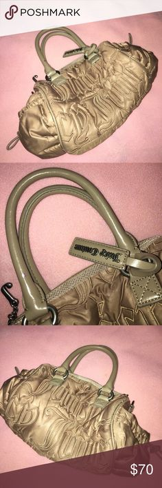 Gorgeous Juicy Couture Handbag Starting high, looking for BEST OFFER. Only major flaw is tiny drop of nail polish on the strap as pictured. This is a beautiful Purse. Make me an offer.  Juicy Couture Bags