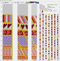 Узоры для вязаных жгутиков-шнуриков 19 | biser.info - всё о бисере и бисерном творчестве