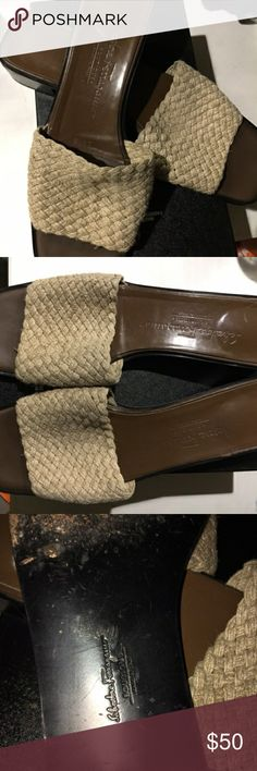 Salvatore ferragamo slip on..PRICE IS FIRM.. Color:light brown. Size:9. Its fair condition. Pls refer to the post picture to define the product. However still looks good for pre owned shoes... guaranteed its authenticity.. if you want more picture just message me. Tks for shopping in my closet... Salvatore Ferragamo Shoes Sandals