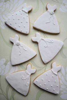 wedding dress cookies by harriett