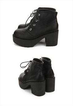 SPRING COLLECTION: CLASSIC BIKER PLATFORM BOOTS