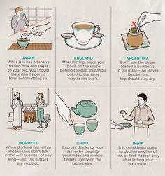 L'Ora del Tè è un'arte che cambia in ogni paese. Lo sapevate?