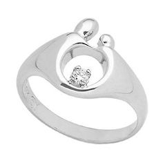 Mother and Child® Small Diamond Ring - Love the elegant simplicity!  A wonderful push present or First Mothers Day gift.