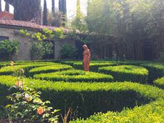 Beautiful garden at the Fattoria del Colle estate in Trequanda, Tuscany. #iliveitaly #livitalytours