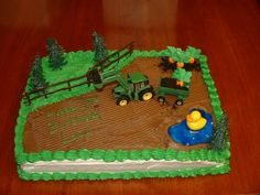 Tractor Cake - just not the duck!
