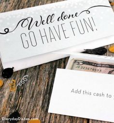Wondering what to get this year's round of graduates? A little spending money is always a good idea! Use our printable graduation money card to make a real impression.