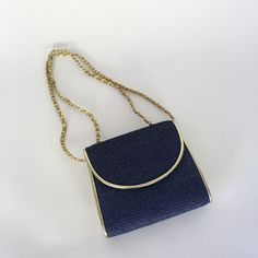 Fab.com | Navy Chain Strap Bag