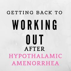 Your hypothalamic amenorrhea story isn't over the minute you get your period back. There's still work to do because now you have to keep your ovulation and period.