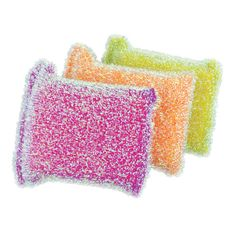 Casabella Sparkle Scrub Sponges are safe and effective on non-stick surfaces especially glassware and porcelain. Casabella Sparkle Scrub Sponges Set of 6.