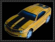 "Chevrolet Camaro ""Bumble Bee""  free paper model download"