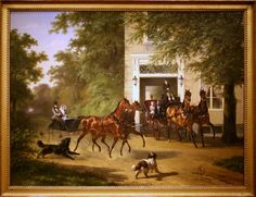 August Belmont and Isabel Perry, Oil on canvas by Wouterus Verschuur. Vintage Travel, Vintage Art, The Belmont Stakes, National Portrait Gallery, Historical Romance, 19th Century, Oil On Canvas, Horses, Artist