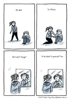 Debbie Tung's sketches of everyday life, comics and illustrations. Positive Quotes, Motivational Quotes, Inspirational Quotes, Introvert Quotes, Introvert Girl, My Bubbles, Infj Personality, Be Kind To Yourself, Note To Self