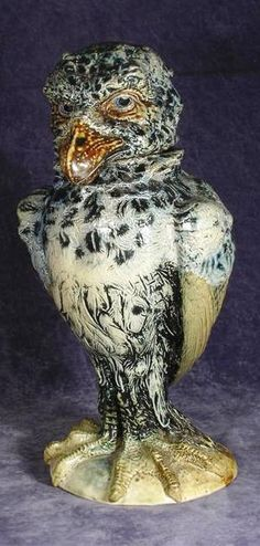 25 cm 1897 a Wally bird by Robert Wallace Martin Martin Brothers Stoneware Pottery 1873 - 1915 click now to see more. Ceramic Birds, Ceramic Pottery, Pottery Art, Ceramic Art, Make Your Own Pottery, Martin Brothers, Pottery Sculpture, Bird Sculpture, Colorful Plants