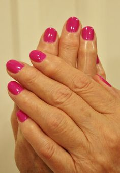 TruGel Eletric Purple. Perfect summer color! ManiMondays: French Tips, Rhinestones, Glitter and HOT PINK!