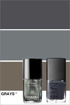 i love gray nails. by kathleen
