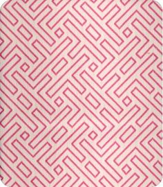 small-scale pink fretwork fabric