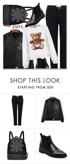 """""""Get the look"""" by aida-nurkovic ❤ liked on Polyvore featuring Current/Elliott and Moschino"""