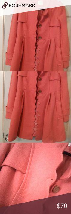Medium but fits like a small. Modcloth style coat Fits like a small. Aprox.  Bust-18 waist-15 Modcloth  Jackets & Coats