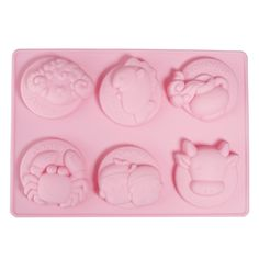 6 Constellations Style Silicone Cake Decoration Mold