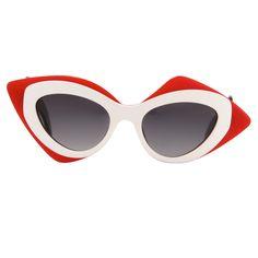 Prabal Gurung red sunglasses