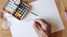 Video crash course on watercolor calligraphy, from The Postman's Knock.