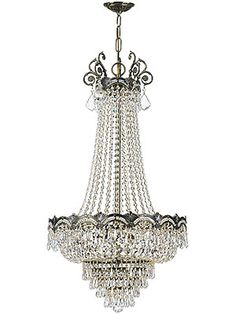 Majestic Crystal Basket Chandelier In Historic Brass Finish | House of Antique Hardware