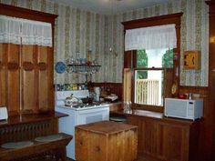 antique butcher block in 1913 – Lewistown, PA home