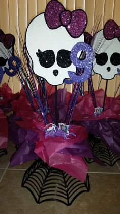 Made These Monster High Centerpieces For My Daughter's 9th Bday Party!!!