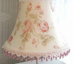 "Custom 8 3 4 "" #Lamp #Shade Shabby# Pink Climbing #Roses"