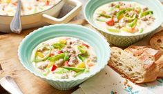 Mit dem Hackfleisch-Käsesuppe-Rezept von MAGGI genießt du Suppe einmal anders! Lasse dich begeistern.