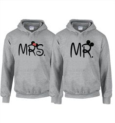 Couples Mickey and Minnie Mr Hoodies in Black 496f6de9dc9