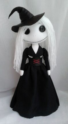 Gothic Witch Rag Doll Fiona by ChamberOfDolls on Etsy, £35.00