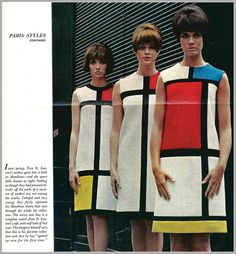 1965 fashion, YVES sT. lAURENT by mcudeque, via Flickr