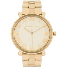 Michael Kors Norie Watch ($225) ❤ liked on Polyvore featuring jewelry, watches, accessories, acc, water resistant watches, stainless steel watches, michael kors watches, shoulder chain jewelry and stainless steel wrist watch