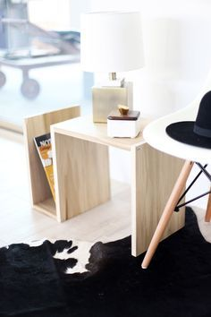 DIY: wood side table