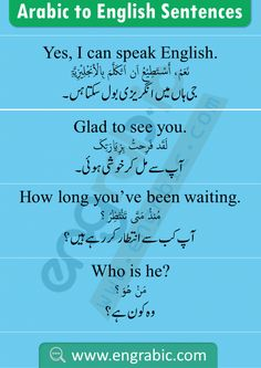 Spoken Arabic Sentences and Phrases with Meanings in Urdu and English English Learning Books, English Grammar Book, English Learning Spoken, English Language Learning, English Vocabulary List, English Vocabulary Words, English Phrases, Phrases And Sentences, Arabic Sentences