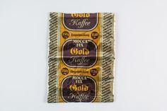 """Die große Packung Kaffee """"Mocca Fix Gold"""" mit 250g Inhalt kostete damals 17,50 Mark. /jk"""