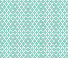 Aqua Moroccan fabric by jenniferstuartdesign on Spoonflower - custom fabric