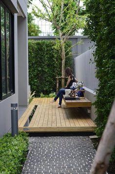 beautiful small garden design for small backyard ideas 43 Small Backyard Gardens, Backyard Patio Designs, Small Backyard Landscaping, Small Patio, Landscaping Ideas, Small Yards, Narrow Backyard Ideas, Pergola Patio, Small Decks