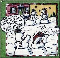 Ah, snowman humor