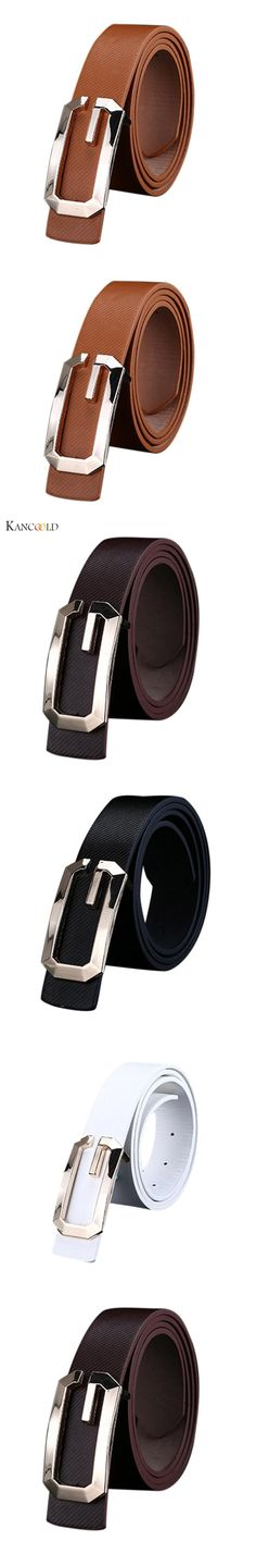 Fashion Cool Belt Men Casual PU Leather Thin Belt Skinny Slender Waistband Unisex Cintos Femininos Au9D