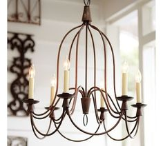 Rustic chandelier by guida