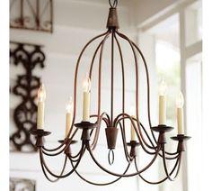 Rustic chandelier by guida